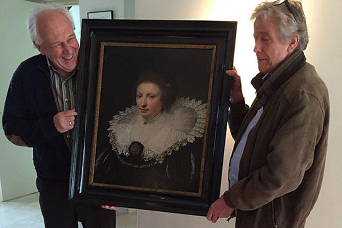 Wilhelmina van Arkel bezoekt Hendrick Hamel
